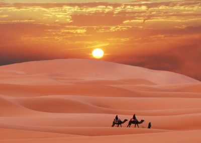 Sunset & Sunrise Camel Tours in Merzouga Erg Chebbi Desert