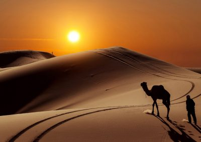 Camel Trekking / ride in Merzouga for 2 Nights in desert Erg Chebbi